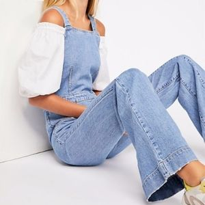 Free People Aurora Denim One Piece jumpsuit